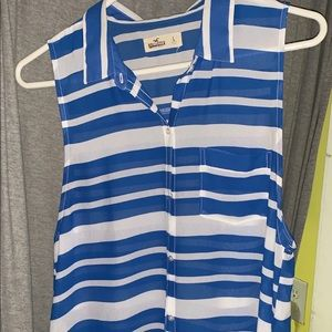 Hollister shirt with sleeves cut off